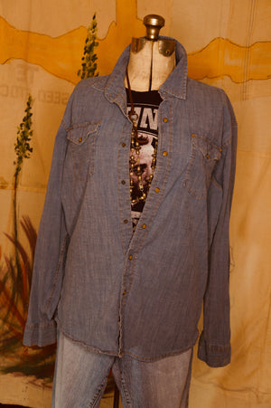 WS1001 Decorated Western Snap Shirt Lg