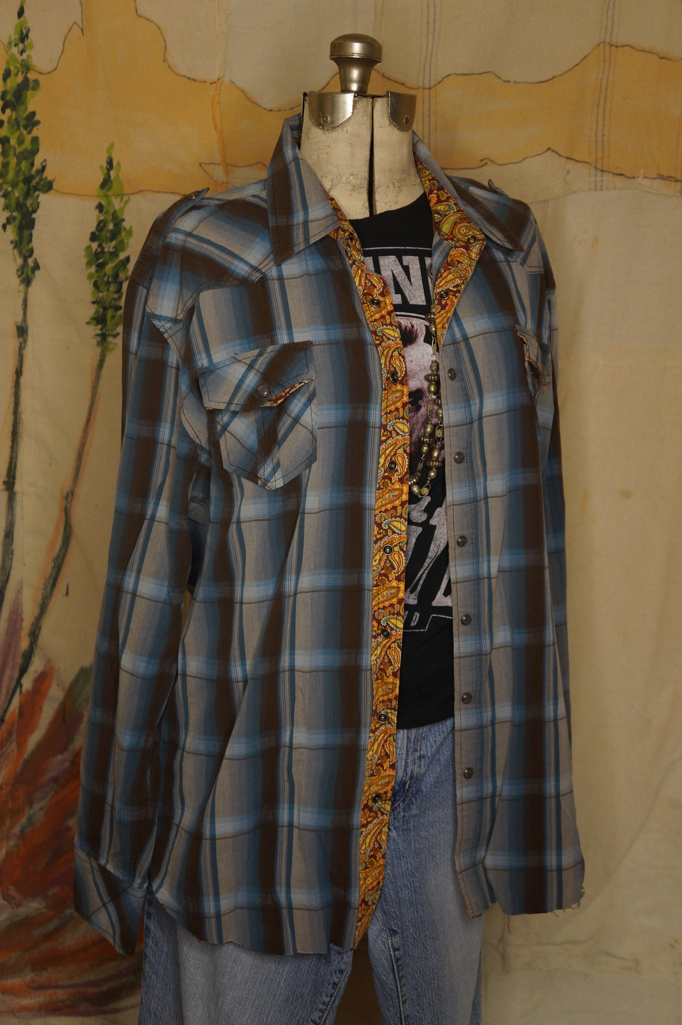 WS1014 Decorated Western Snap Shirt