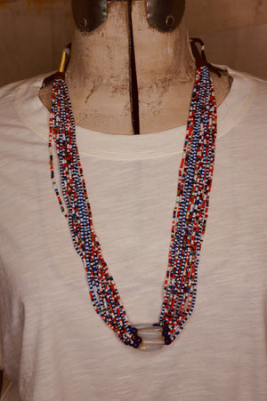 African Bead Multi-strand Necklace