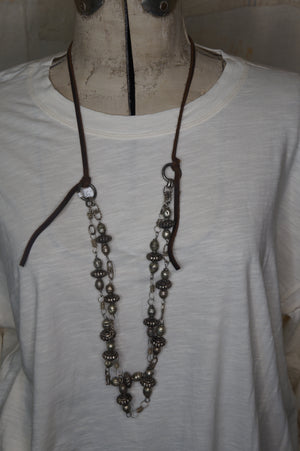 Silver colored Mexican Bead Necklace