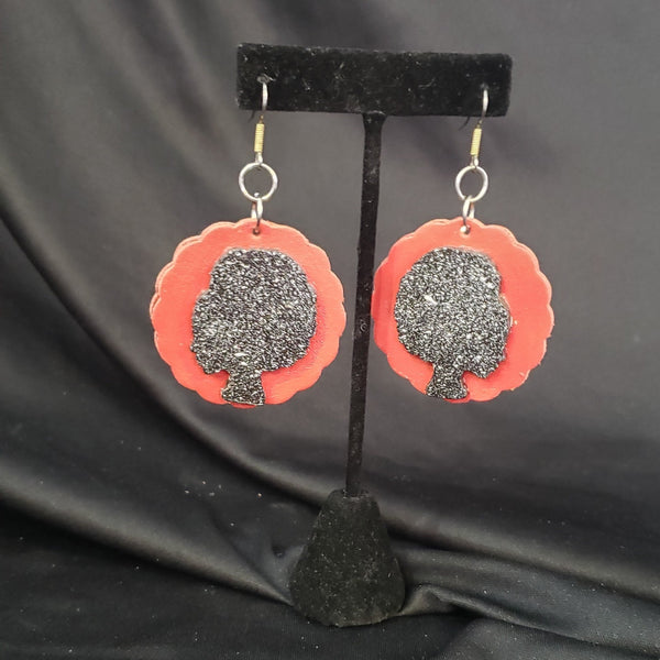 Afro Silhouette Earrings