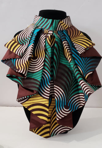 African Print Detachable Collar