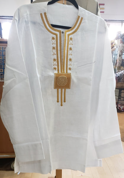 White and Gold DASHIKI