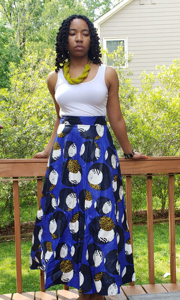 Blue Wrap Skirt