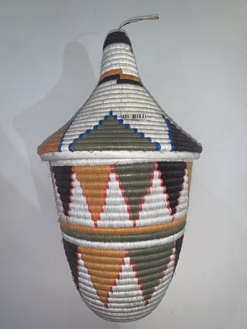 Large Woven Basket With Top