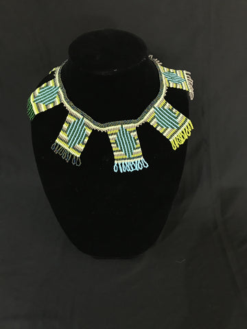 Green Panel Necklace