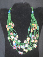 Chunky Beaded String Necklace