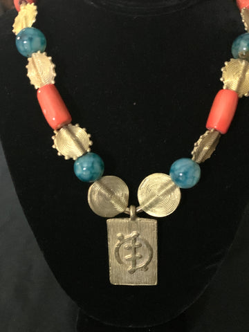Brass Adinkra Necklace