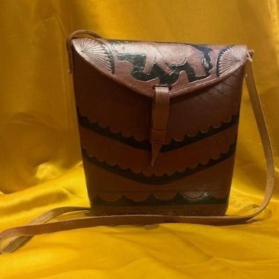 Leather Crossbody Elephant Bag