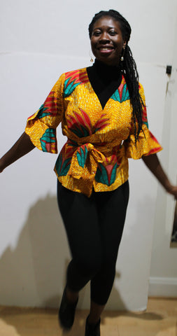 Ghana Wrap Around Blouse