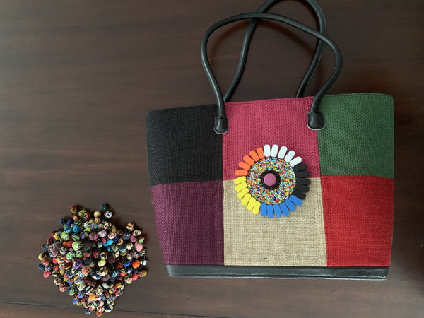 Colorful Rafia bag