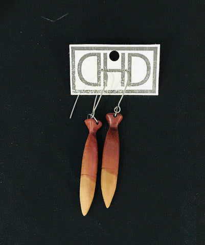Pink Ivory Dangle Earrings