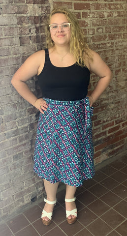African Print Short Wrap Skirts
