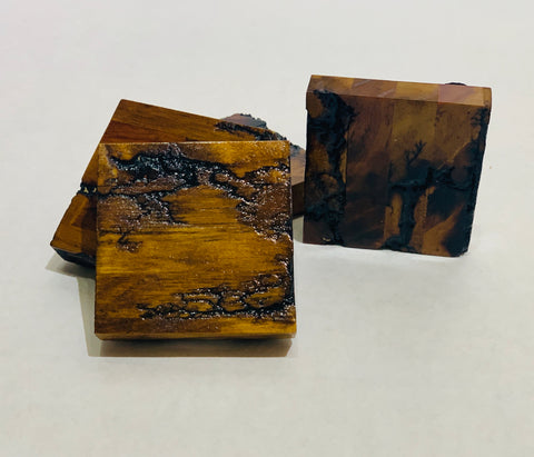 Epoxy Wood Coaster Set