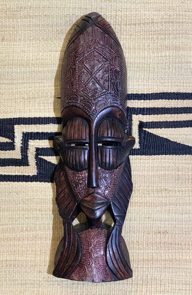 Wooden Tribal Face Mask