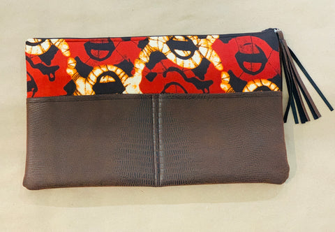Deep Red Ellen Clutch