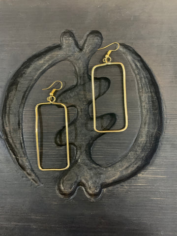 Dangling Brass Earrings