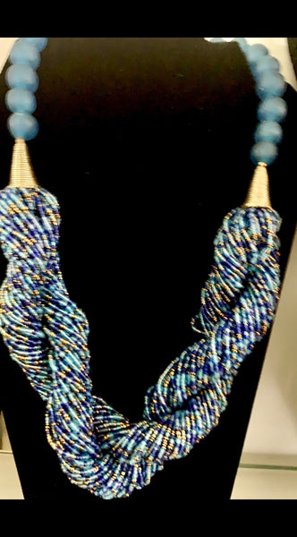 Twisted Strands bead Necklace
