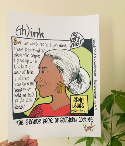 """Think"" Edna Lewis Comic"