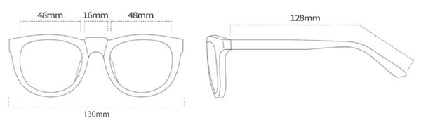 Oval Kids Eyewear Frame Size Measurements - SaferOptics