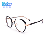 Element - Black Rose Gold - SaferOptics Anti Blue Light Glasses Malaysia | Adult, Big, Black, Customize, Empower, Hexagon, new, Small