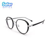 Element - Black Silver - SaferOptics Anti Blue Light Glasses Malaysia | Adult, Big, Black, Customize, Empower, Hexagon, new