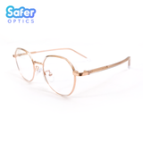Element - Clear Rose Gold - SaferOptics Anti Blue Light Glasses Malaysia | Adult, Big, Customize, Empower, Hexagon, new, Rose Gold