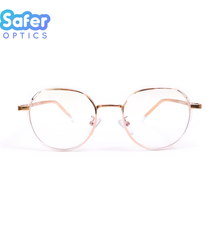 Element - Clear Rose Gold - SaferOptics Anti Blue Light Glasses Malaysia | Adult, Big, Customize, Empower, Hexagon, new, Rose Gold, Small