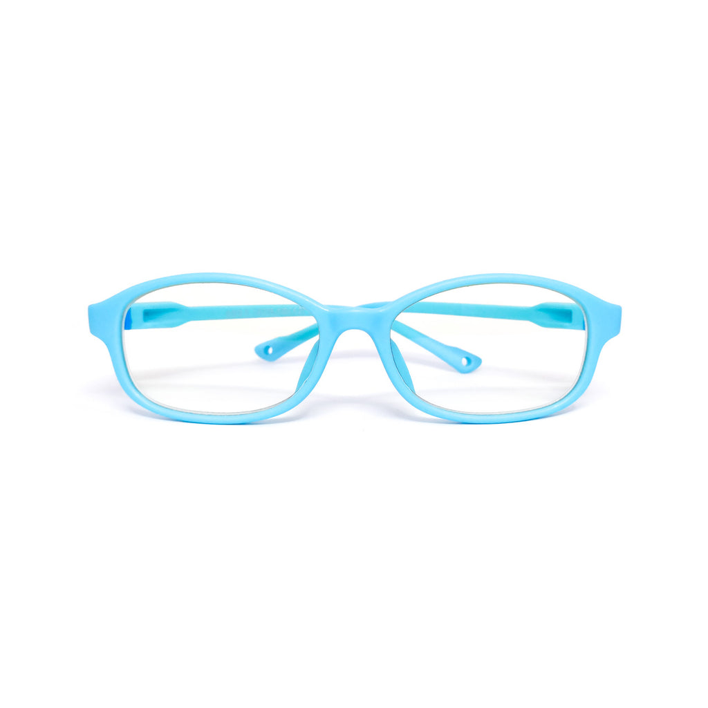 Kids Flex - Baby Blue - SaferOptics Anti Blue Light Glasses Malaysia | 420Safety, Blue, Flex, Kids, Oval, Small