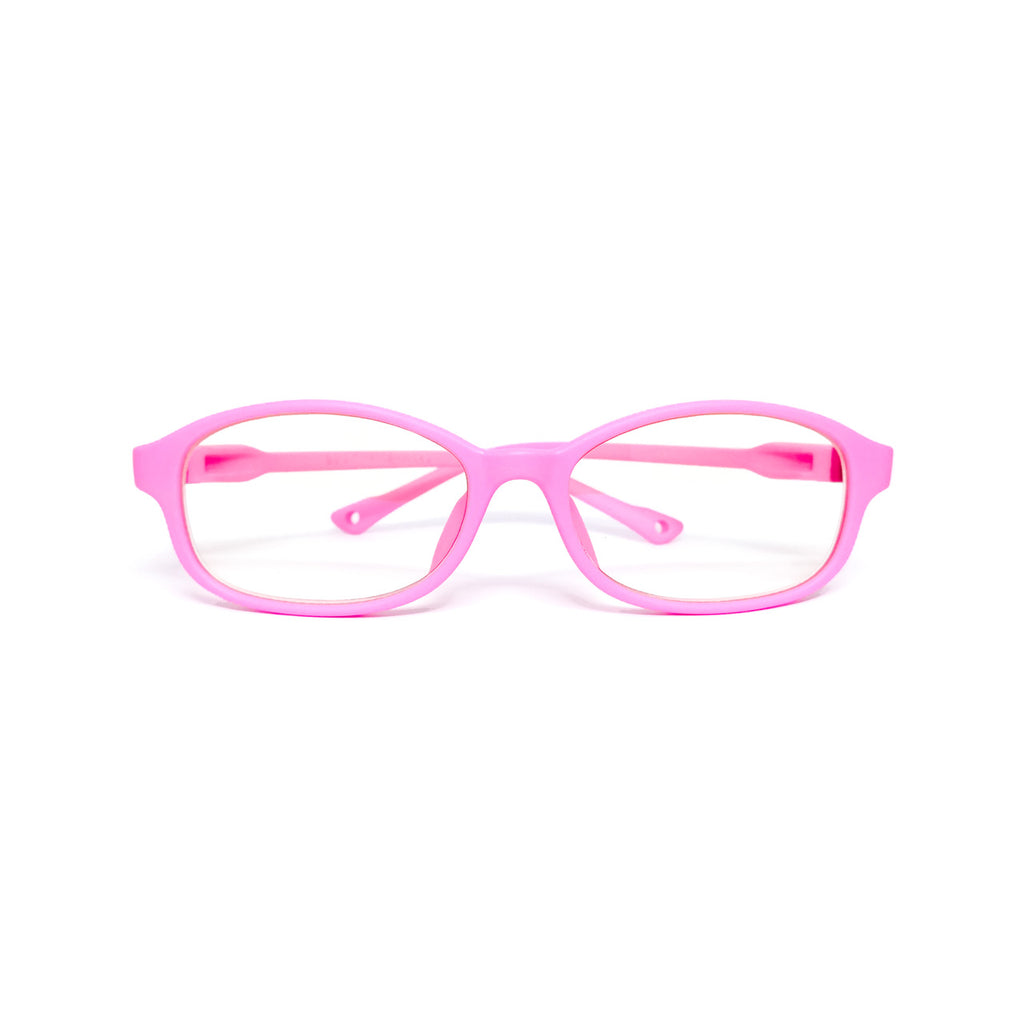 Kids Flex - Rose Pink - SaferOptics Anti Blue Light Glasses Malaysia | 420Safety, Flex, Kids, Oval, Pink, Small