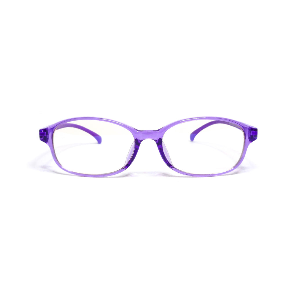 Kids Oval - Violet Dew - SaferOptics Anti Blue Light Glasses Malaysia | 420Safety, Big, Kids, Oval, Purple