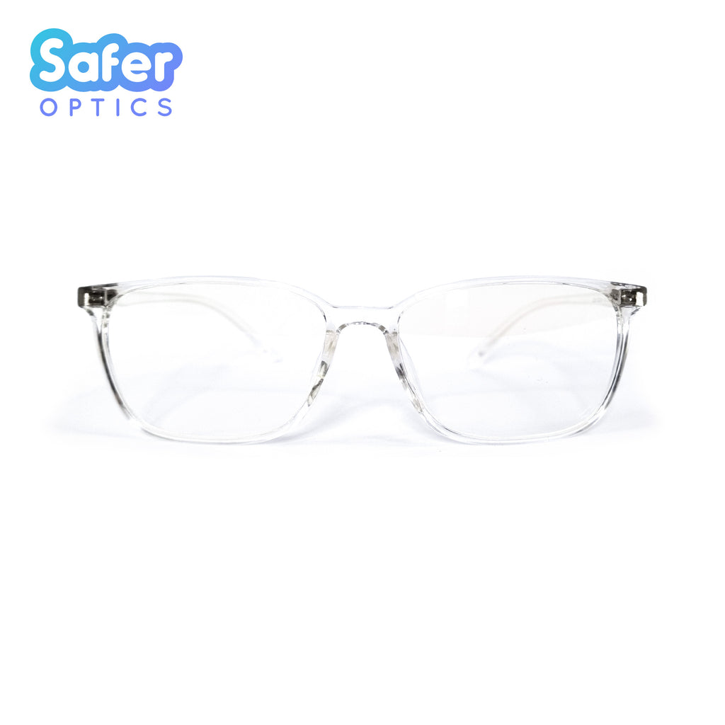 Perspective - Crystal Clear - SaferOptics Anti Blue Light Glasses Malaysia | Adult, Customize, Medium, new, White