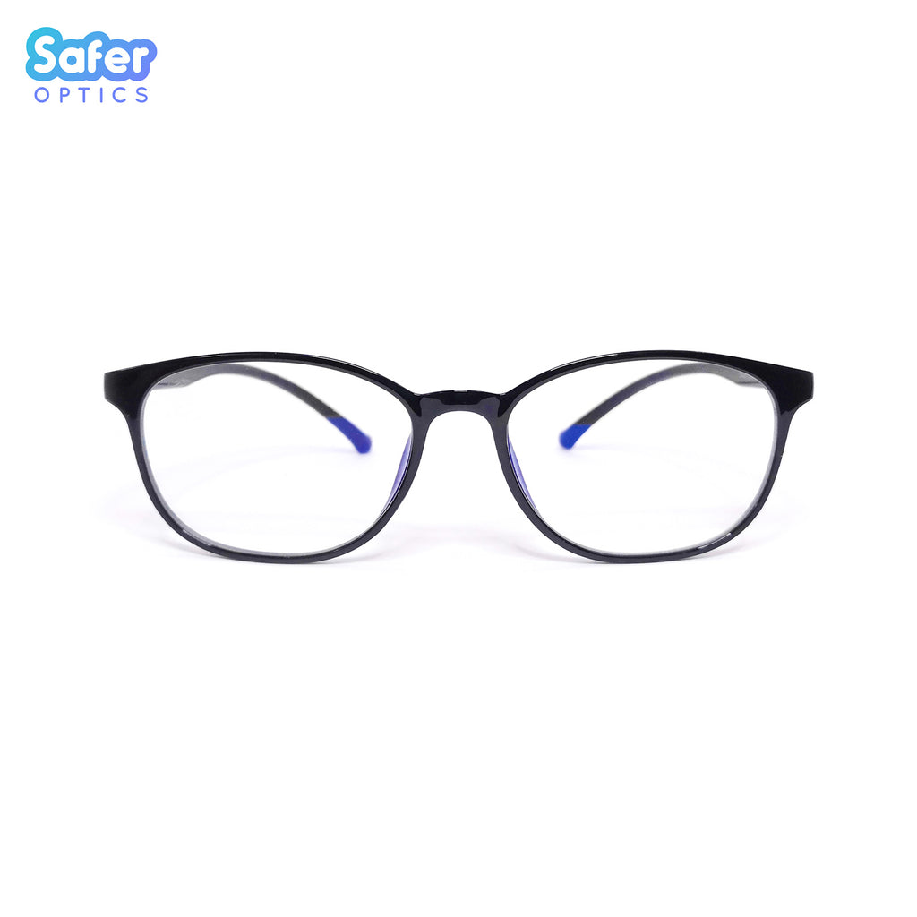 Pioneer (Reading Glasses) - SaferOptics Anti Blue Light Glasses Malaysia | Adult, Black, Customize, new, Pioneer, Reading, Square