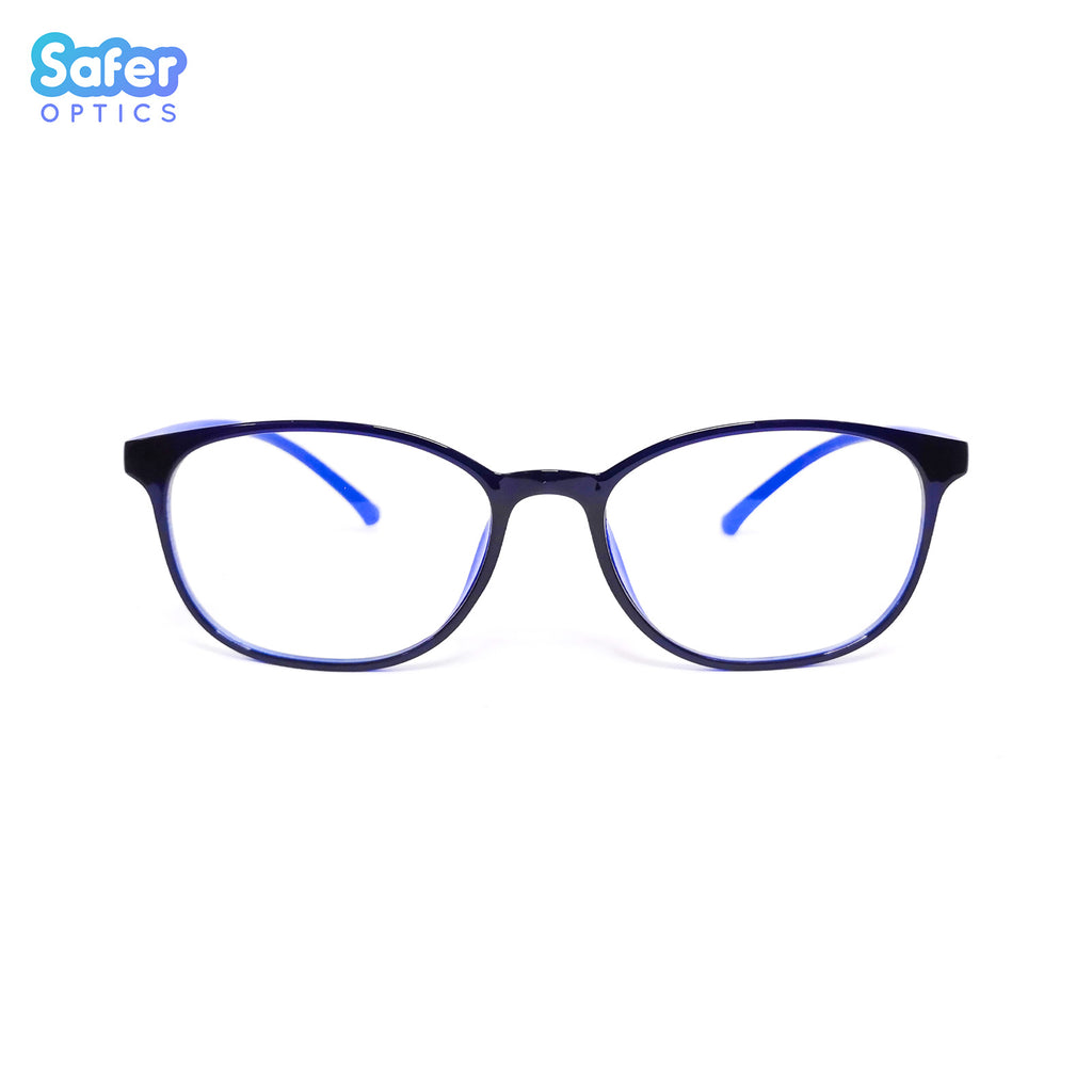 Pioneer - Electric Blue - SaferOptics Anti Blue Light Glasses Malaysia | 420Safety, Adult, Big, Black, Blue, Customize, new, Pioneer, Square