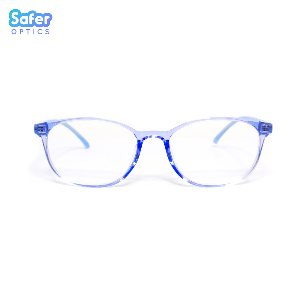 Pioneer - Ice Blue - SaferOptics Anti Blue Light Glasses Malaysia | 420Safety, Adult, Big, Blue, Customize, new, Pioneer, Square