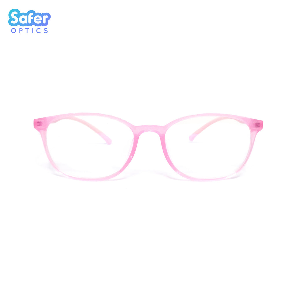 Pioneer - Pink Blush - SaferOptics Anti Blue Light Glasses Malaysia | Adult, Big, Customize, Medium, Pink, Pioneer, Small, Square