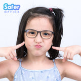 Kids Rectangle - Mercury - SaferOptics Anti Blue Light Glasses Malaysia | 420Safety, Black, Kids, Rectangle, Small