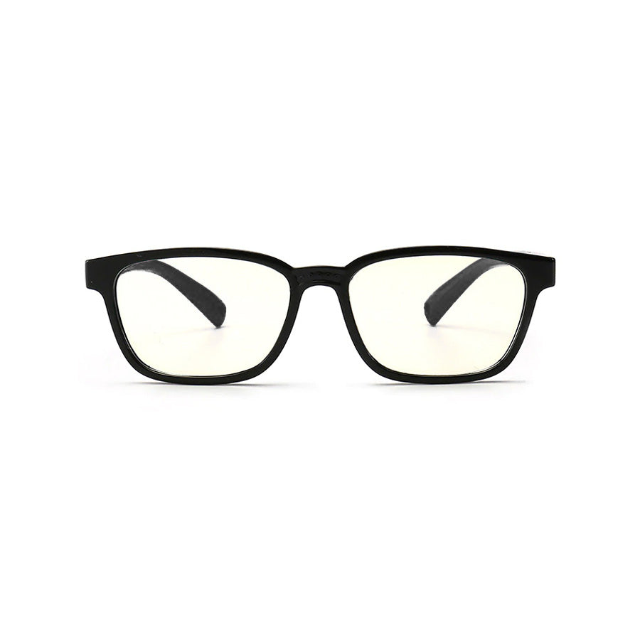 Kids Rectangle - Licorice - SaferOptics Anti Blue Light Glasses Malaysia | 420Safety, Black, Kids, Rectangle, Small
