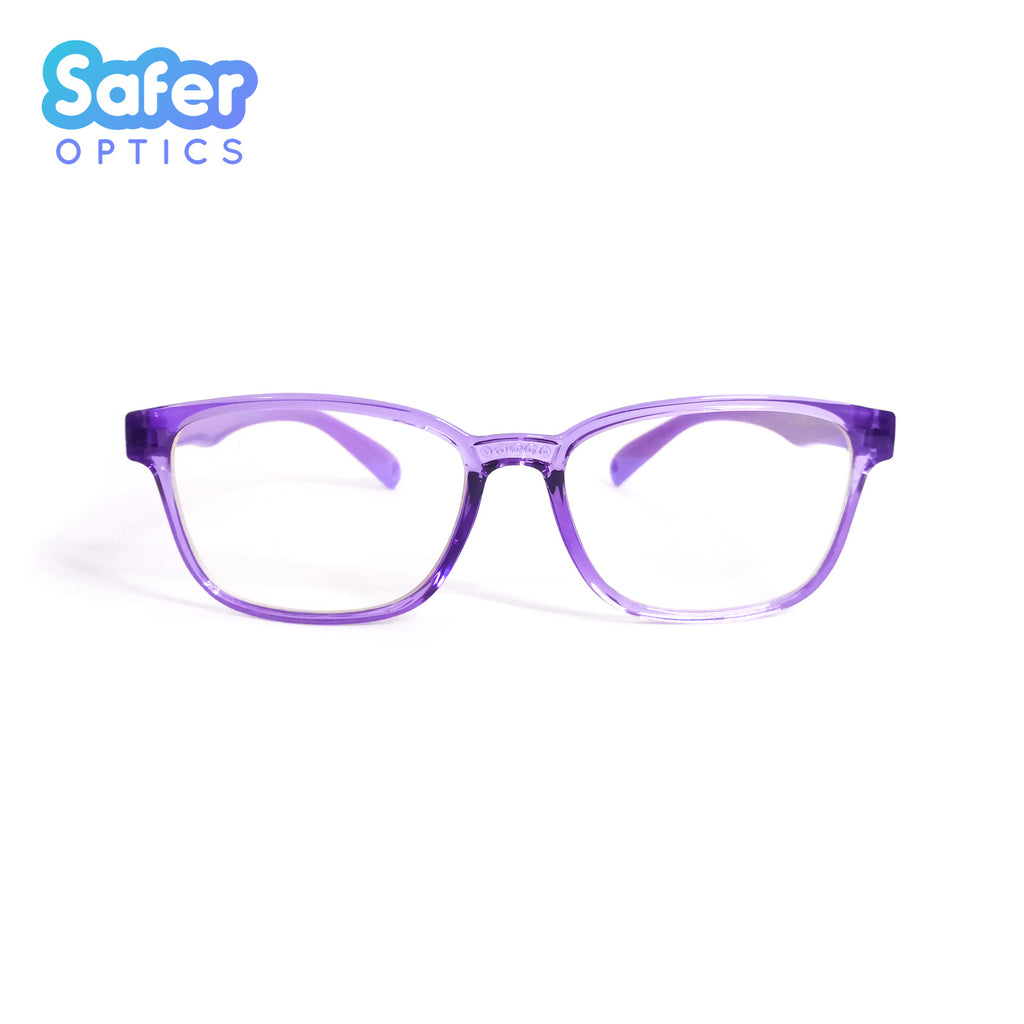 Kids Rectangle - Violet Dew - SaferOptics Anti Blue Light Glasses Malaysia | 420Safety, Kids, last, Purple, Rectangle, Small