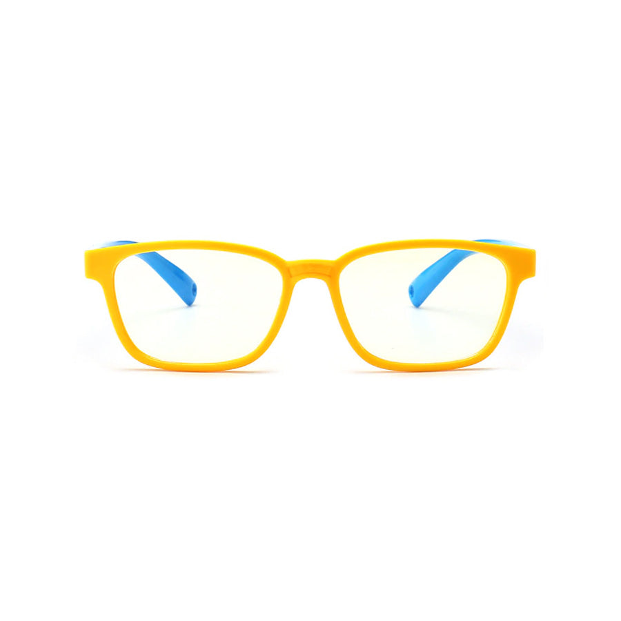 Kids Rectangle - Lemonade - SaferOptics Anti Blue Light Glasses Malaysia | 420Safety, Kids, Rectangle, Small, Yellow