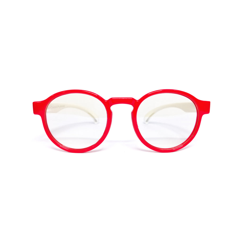 Kids Round - Strawberry Swirl - SaferOptics Anti Blue Light Glasses Malaysia | 420Safety, Kids, Red, Round, Small