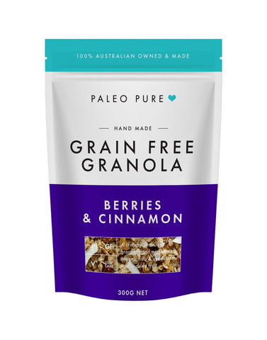 Berries & Cinnamon grain free granola 300gm