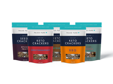 Keto crackers - Mixed Box 5 x 140gm (1 of each flavour)