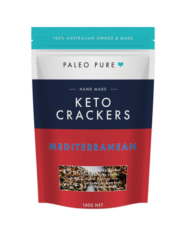 Keto crackers - Mediterranean 140gm (Box of 6 packets)