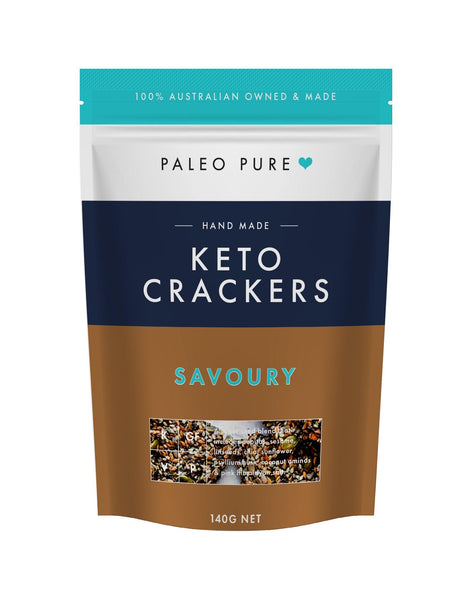 Keto crackers - Savoury 140gm - single