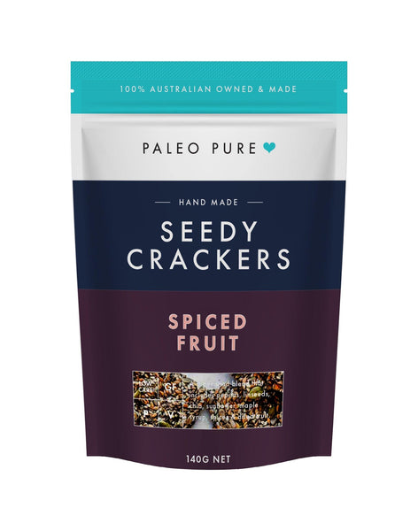 Seedy crackers - spiced fruit 140gm - single