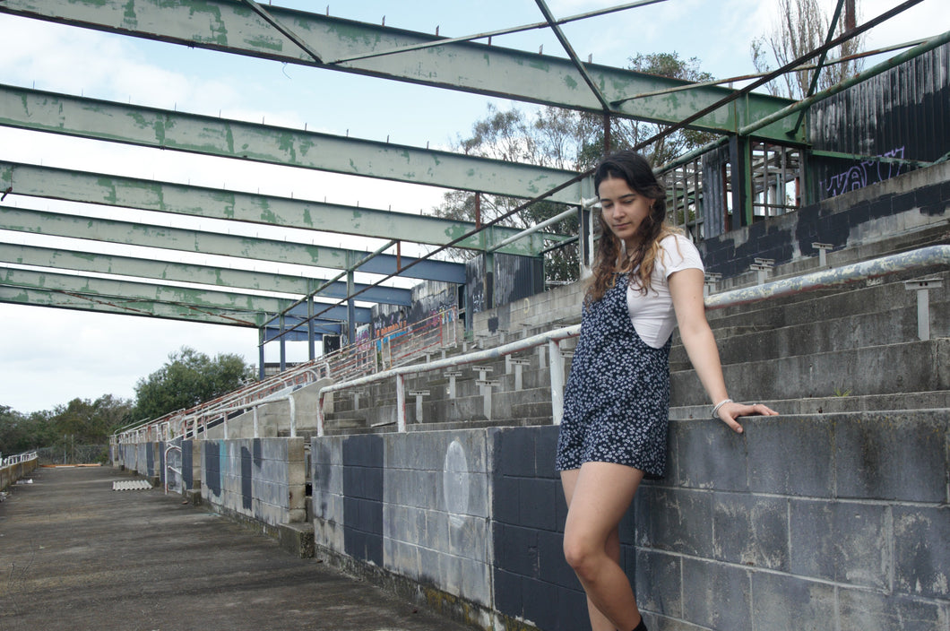 Short flower romper