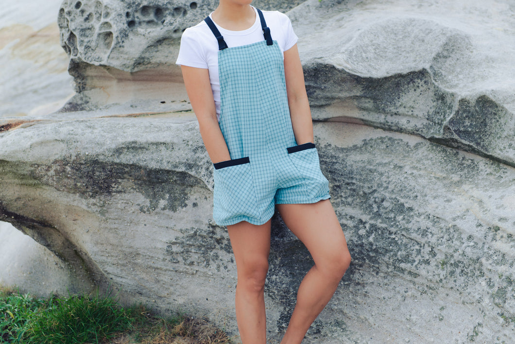 Short romper blue