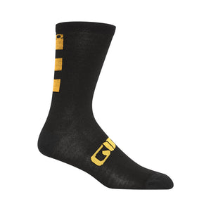 Giro Seasonal Merino Wool Socks Glaze Yellow/Black