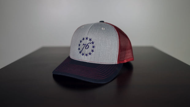 13 Stars Tri Colored Hat